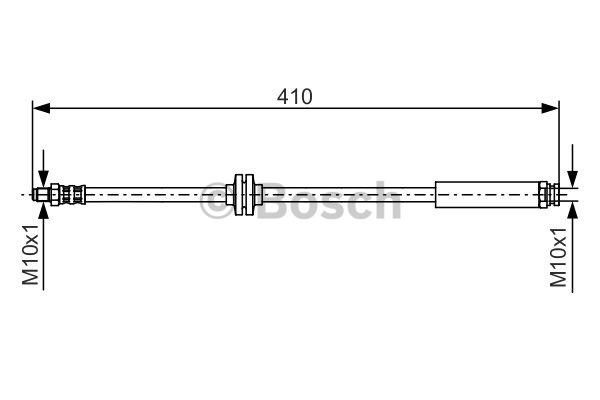 Flexible de frein - BOSCH - 1 987 476 642