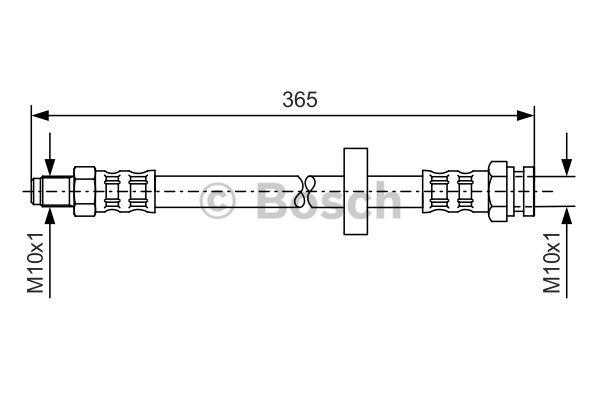 Flexible de frein - BOSCH - 1 987 476 645