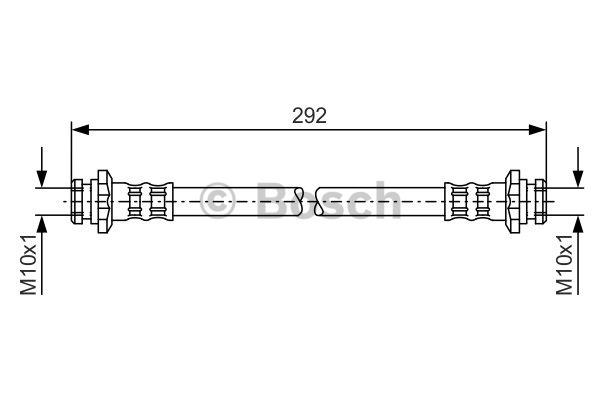 Flexible de frein - BOSCH - 1 987 476 657