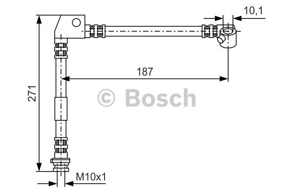 Flexible de frein - BOSCH - 1 987 476 658
