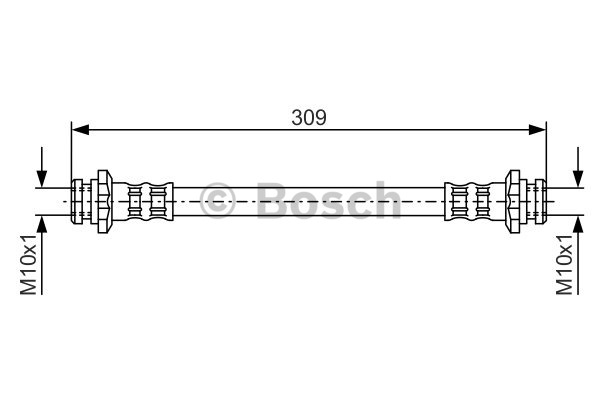 Flexible de frein - BOSCH - 1 987 476 664