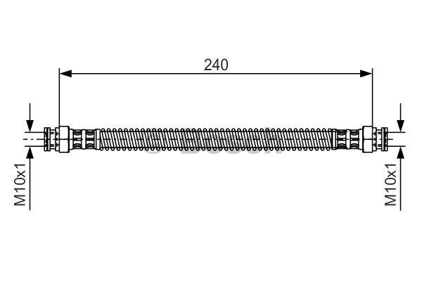 Flexible de frein - BOSCH - 1 987 476 676
