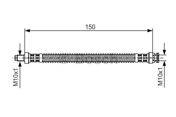 Flexible de frein - BOSCH - 1 987 476 677