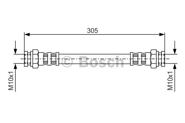 Flexible de frein - BOSCH - 1 987 476 678