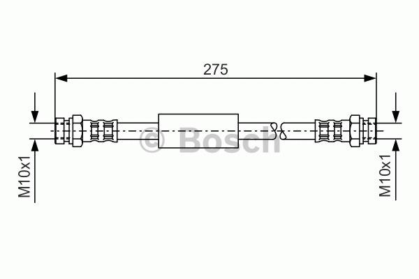 Flexible de frein - BOSCH - 1 987 476 684