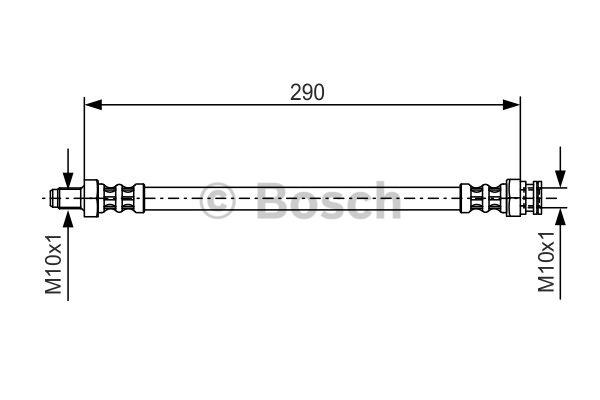 Flexible de frein - BOSCH - 1 987 476 688