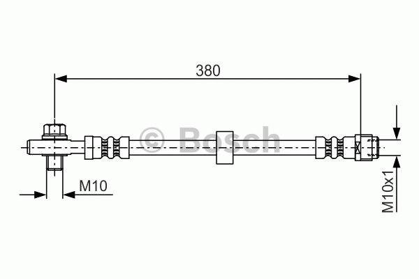 Flexible de frein - BOSCH - 1 987 476 696