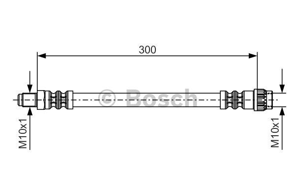 Flexible de frein - BOSCH - 1 987 476 699