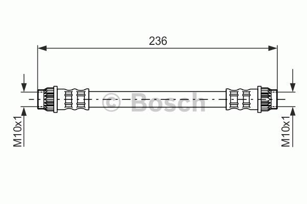 Flexible de frein - BOSCH - 1 987 476 703