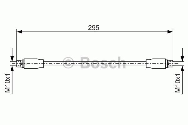 Flexible de frein - BOSCH - 1 987 476 717