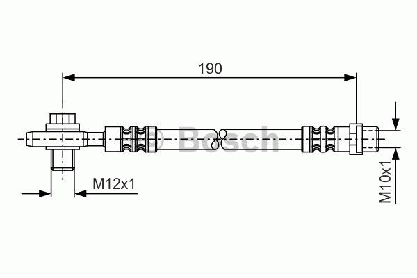 Flexible de frein - BOSCH - 1 987 476 719