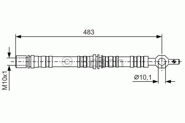 Flexible de frein - BOSCH - 1 987 476 720