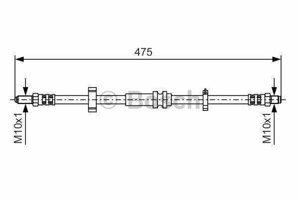 Flexible de frein - BOSCH - 1 987 476 750