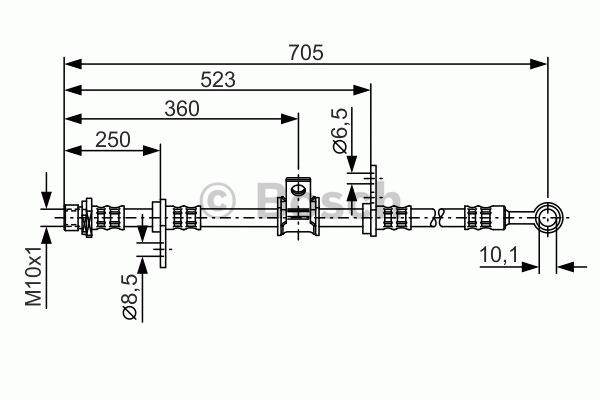 Flexible de frein - BOSCH - 1 987 476 754