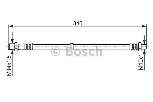 Flexible de frein - BOSCH - 1 987 476 756