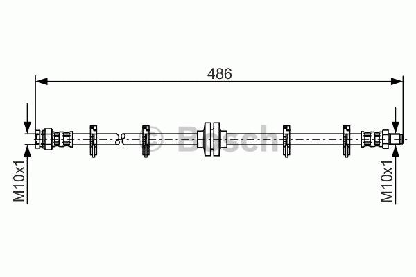 Flexible de frein - BOSCH - 1 987 476 759