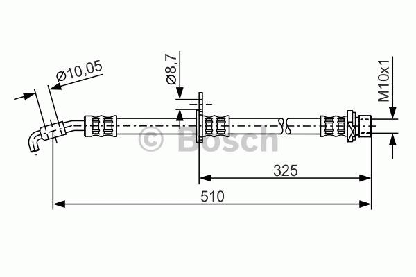 Flexible de frein - BOSCH - 1 987 476 764