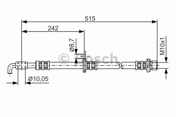 Flexible de frein - BOSCH - 1 987 476 780