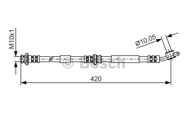 Flexible de frein - BOSCH - 1 987 476 789