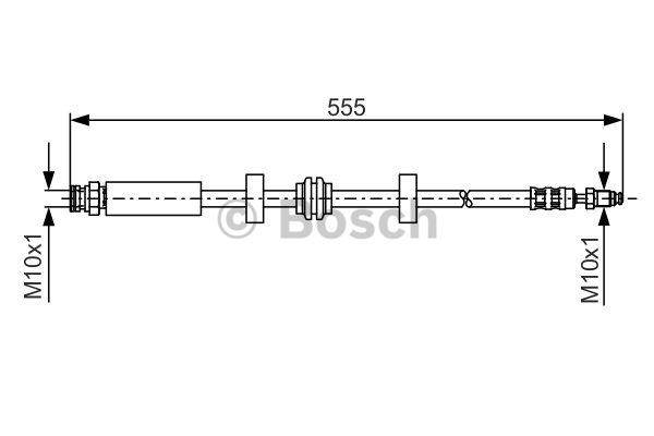 Flexible de frein - BOSCH - 1 987 476 793