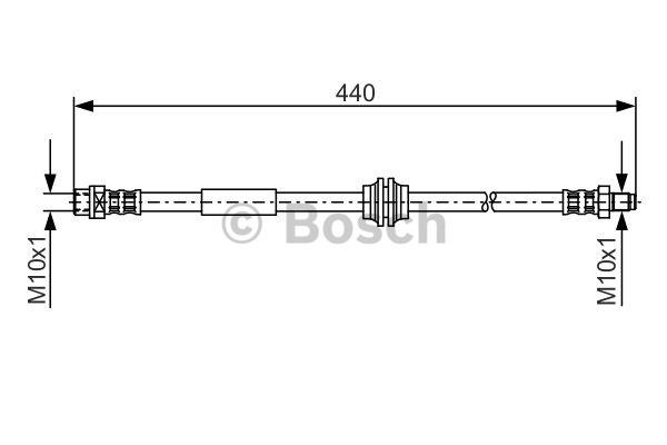 Flexible de frein - BOSCH - 1 987 476 808