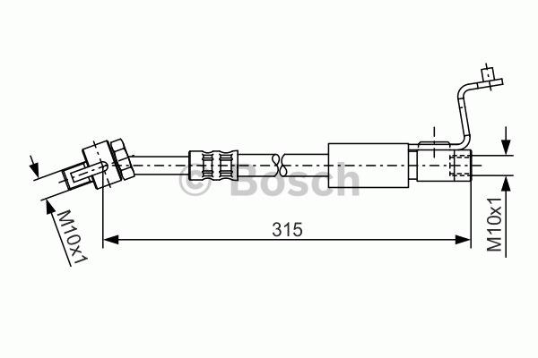 Flexible de frein - BOSCH - 1 987 476 812