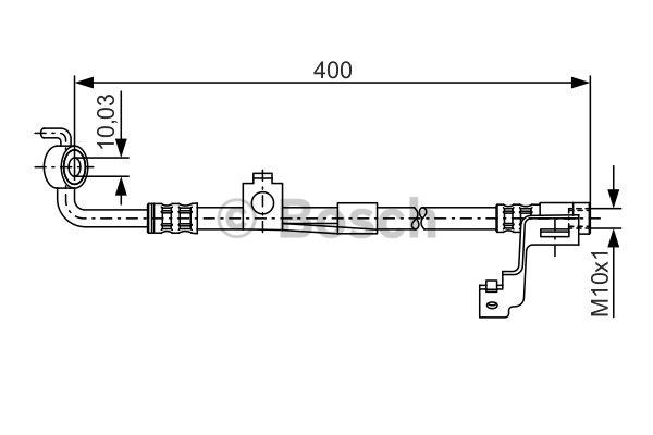 Flexible de frein - BOSCH - 1 987 476 815