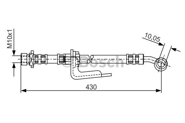 Flexible de frein - BOSCH - 1 987 476 848