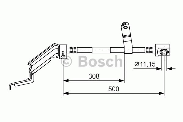Flexible de frein - BOSCH - 1 987 476 866
