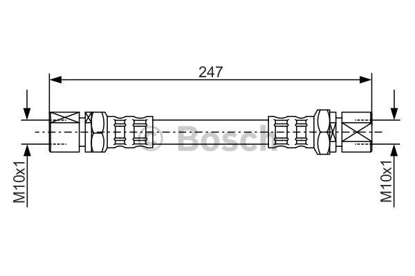 Flexible de frein - BOSCH - 1 987 476 874