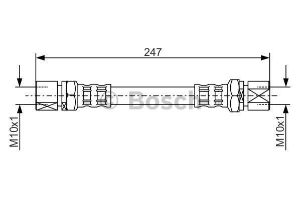 Flexible de frein - BOSCH - 1 987 476 875