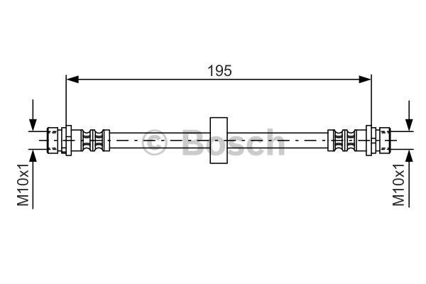 Flexible de frein - BOSCH - 1 987 476 884