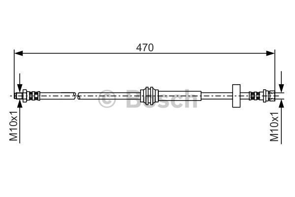 Flexible de frein - BOSCH - 1 987 476 885