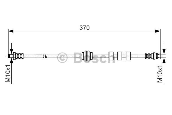 Flexible de frein - BOSCH - 1 987 476 886