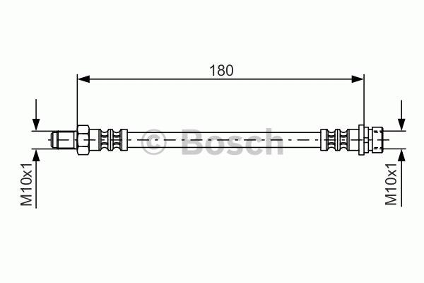 Flexible de frein - BOSCH - 1 987 476 887