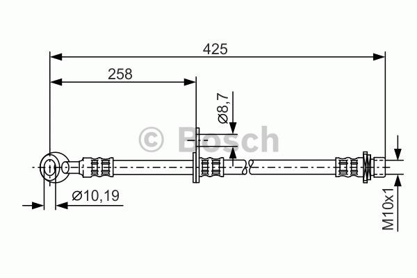 Flexible de frein - BOSCH - 1 987 476 891