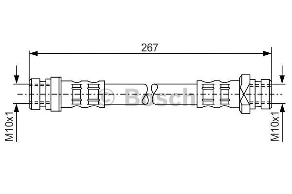 Flexible de frein - BOSCH - 1 987 476 901