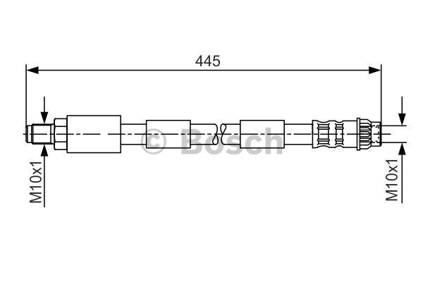 Flexible de frein - BOSCH - 1 987 476 912