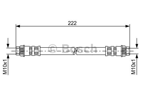 Flexible de frein - BOSCH - 1 987 476 914