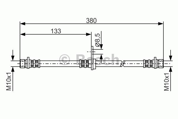 Flexible de frein - BOSCH - 1 987 476 929