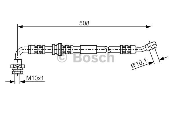 Flexible de frein - BOSCH - 1 987 476 932