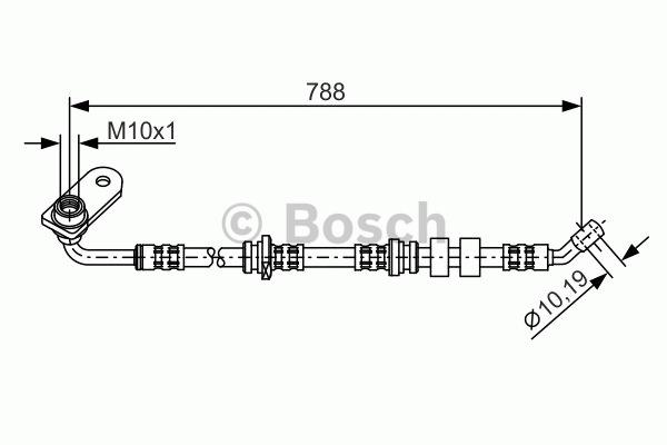 Flexible de frein - BOSCH - 1 987 476 934