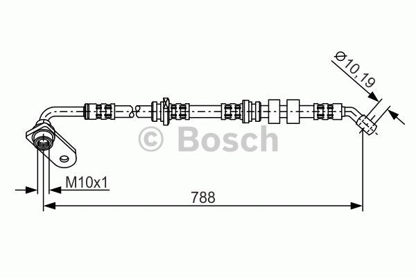 Flexible de frein - BOSCH - 1 987 476 935