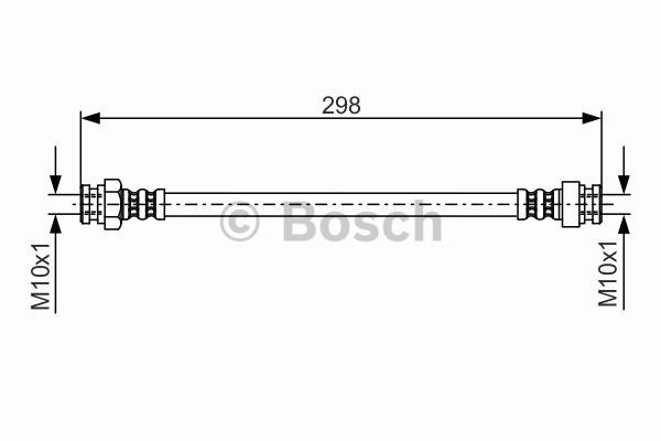 Flexible de frein - BOSCH - 1 987 476 937