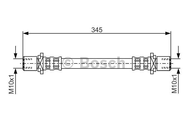 Flexible de frein - BOSCH - 1 987 476 943