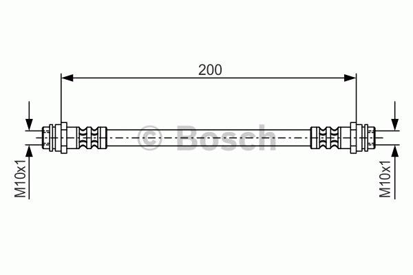 Flexible de frein - BOSCH - 1 987 476 946