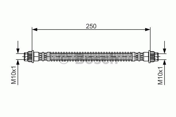 Flexible de frein - BOSCH - 1 987 476 947