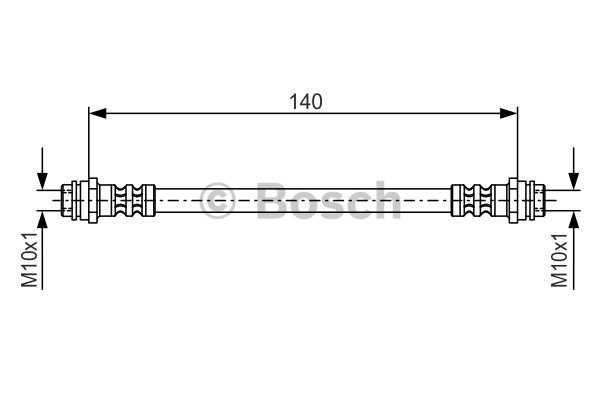 Flexible de frein - BOSCH - 1 987 476 952