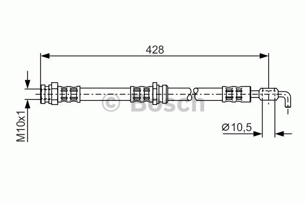 Flexible de frein - BOSCH - 1 987 476 966