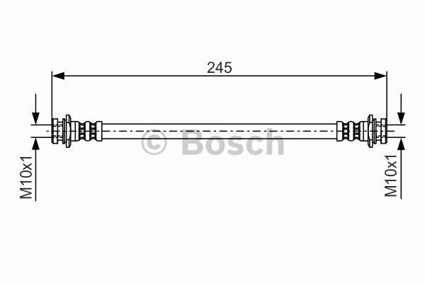 Flexible de frein - BOSCH - 1 987 476 969